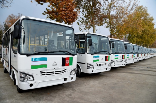Buses, tractors and hinged equipment were donated to Afghanistan on behalf of the President of Uzbekistan