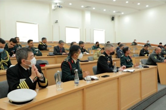 ISRS representative informs Indian Military Personnel about defense and security transformation